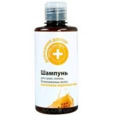 Домашний доктор Шампунь для тонких и слабых волос Маточное молочко+мед