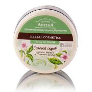Зеленая аптека Солевой скраб «Чайное дерево и зеленая глина»